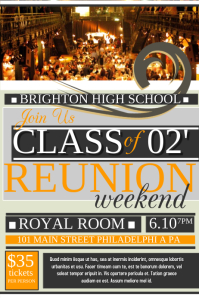 Reunion Poster template