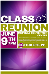 Reunion Flyer. REUNION FLYER TEMPLATE  Class Reunion Invitation Template