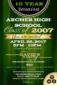 Customizable design templates for high school reunion flyer high school reunion flyer reunion7 class reunion reunion1 stopboris