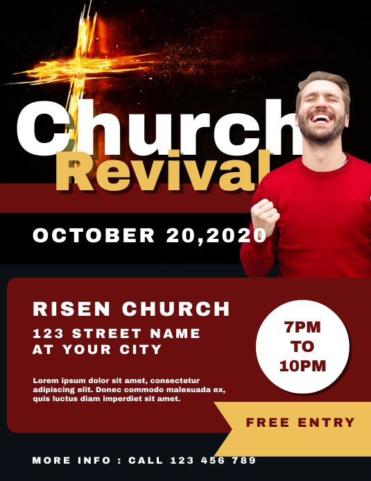 Revival Church Flyer