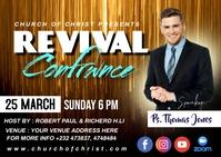 Revival confrance Postcard template