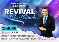 Revival confrance Открытка template