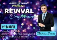 Revival confrance Postcard template