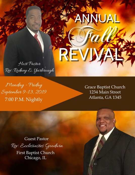 Revival Flyer (Letter pang-US) template