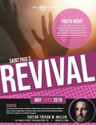 Revival Flyer (US Letter) template