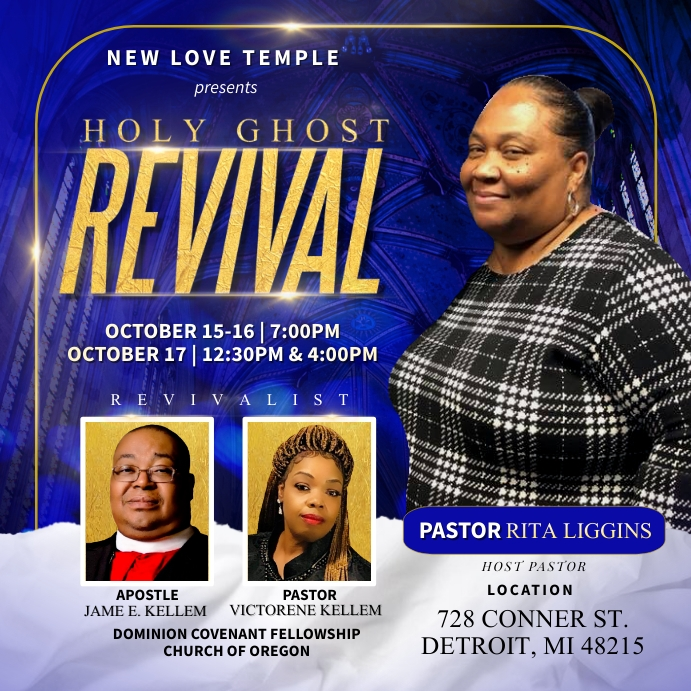 Revival flyer Carré (1:1) template
