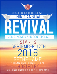 Customizable design templates for revival flyer postermywall for Free church revival flyer template