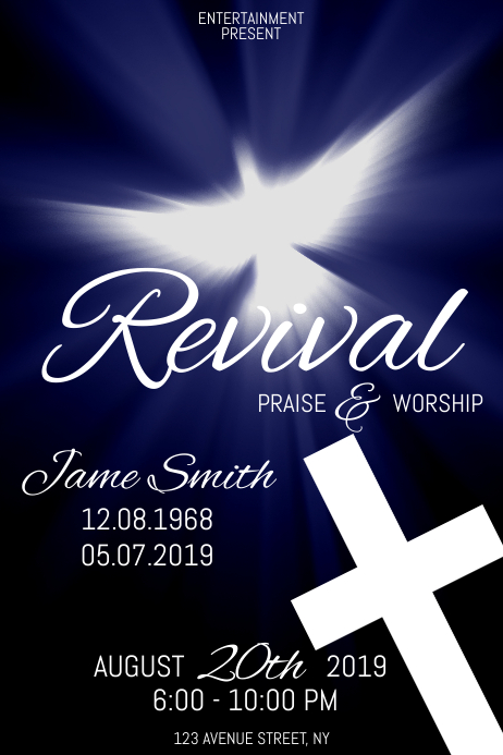 Revival flyer template Poster