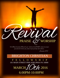 130 customizable design templates for revival postermywall for Free church revival flyer template