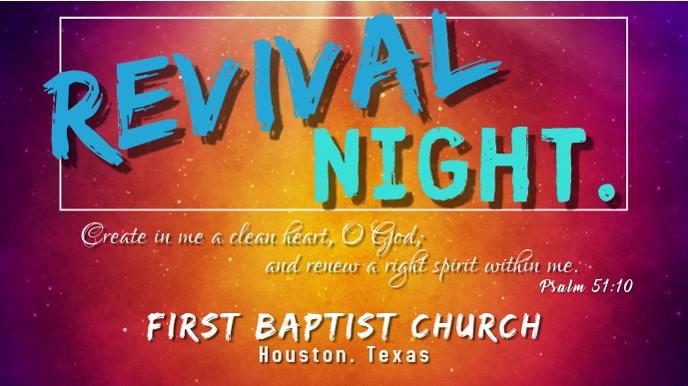 Revival Night Pantalla Digital (16:9) template