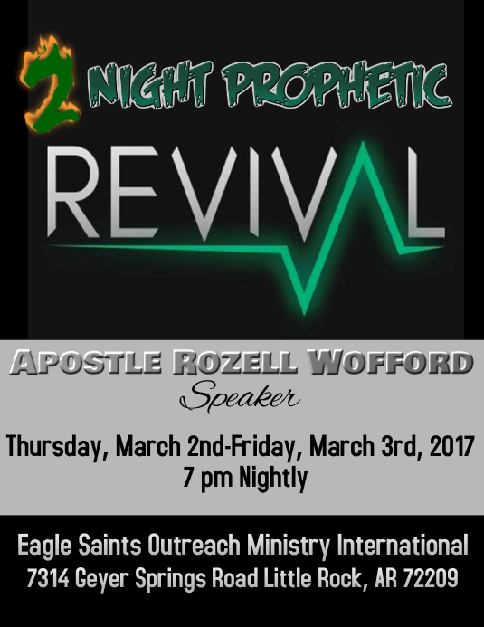 Revival flyer template postermywall for Free church revival flyer template