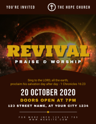 Revival Praise and Worship Church Flyer