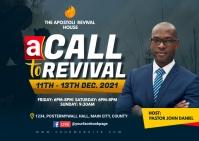 revival service Postcard template