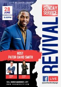 revival service A4 template