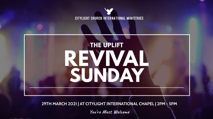 revival sunday flyer Digitalt display (16:9) template