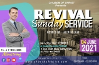 REVIVAL SUNDAY SERVICE Cartaz template