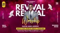 Revival Worship Church Flyer Publicação do Twitter template