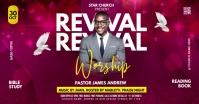 Revival Worship Church Flyer Facebook 广告 template