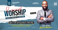 Revival worship flyer Facebook Ad template