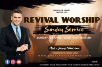 revival worship sunday service Poster template