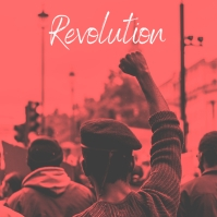 Revolution photo album art cover template