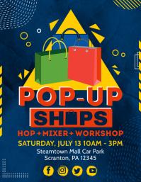 RGB Vendor Pop Up Shop Flyer Template Pamflet (VSA Brief)