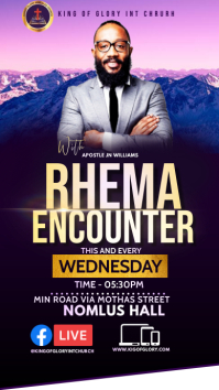 Rhema encounter Pantalla Digital (9:16) template