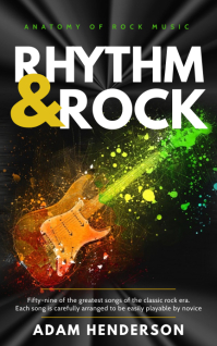 Rhythm and rock Kindle music book cover template