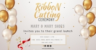 Ribbon cutting ceremony Facebook post template