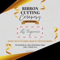 Ribbon cutting ceremony Instagram video Quadrato (1:1) template
