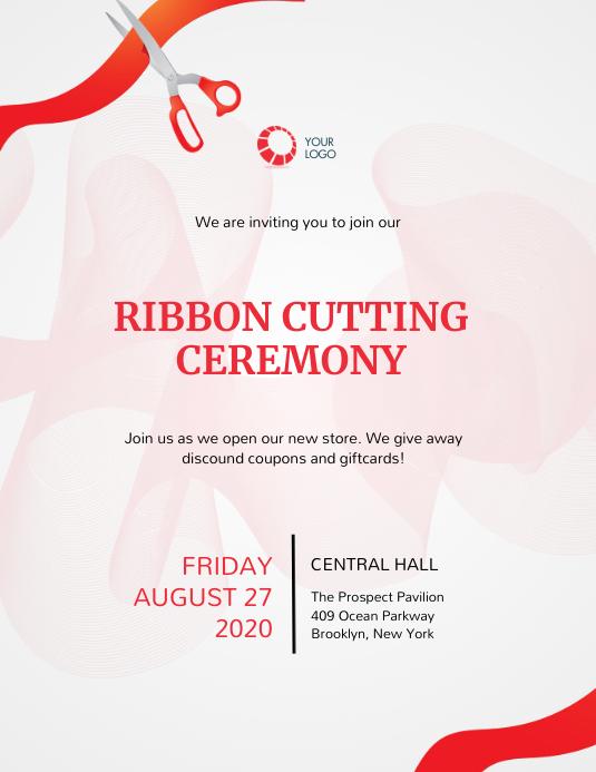 Ribbon cutting Event Invitation Template Folder (US Letter)