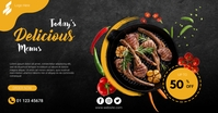 Ribs Menu Discount Facebook Ads template