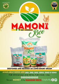 Rice sales advert flyer A4 template
