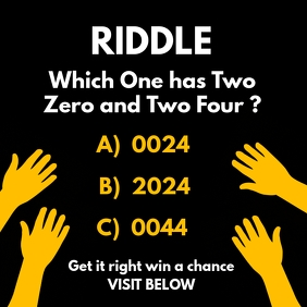 Riddle Quiz Post Template Square (1:1)