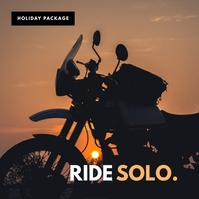 Ride solo Travel poster template