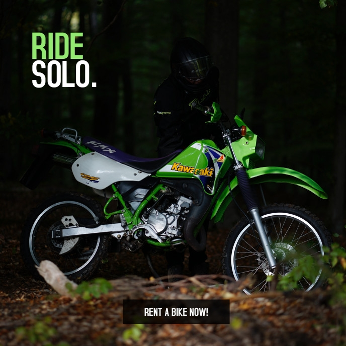 Ride solo Travel poster Albumcover template