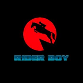 Rider Boy Logo template