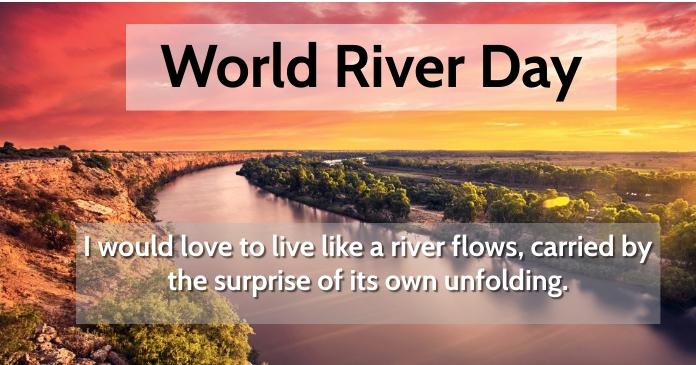 River Day Immagine condivisa di Facebook template