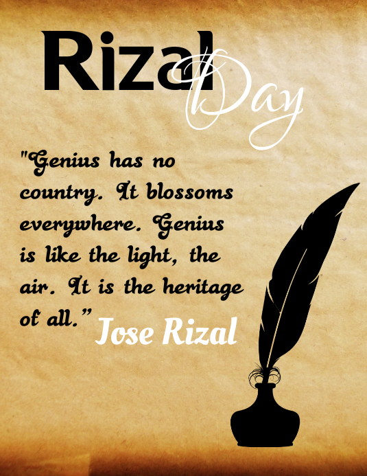 Rizal Day, Rizal Holiday Løbeseddel (US Letter) template