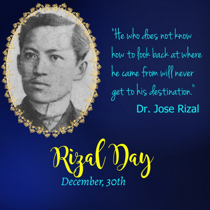 Rizal Day, Rizal Holiday Pos Instagram template
