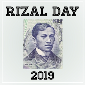 Rizal Day 2019 Instagram Post template