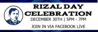 Rizal Day Celebration Encabezado de Twitter template