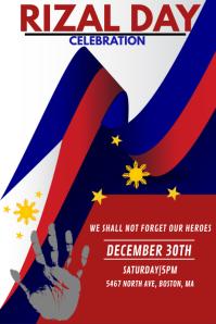 Rizal day celebration Póster template