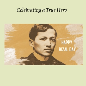 Rizal Day Instagram Post template