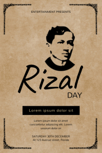 Rizal Day Flyer Design Template Poster