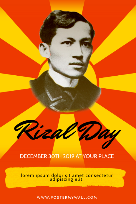 Rizal Day Flyer Design Template