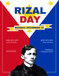Rizal Day Flyer Template Pamflet (Letter AS)