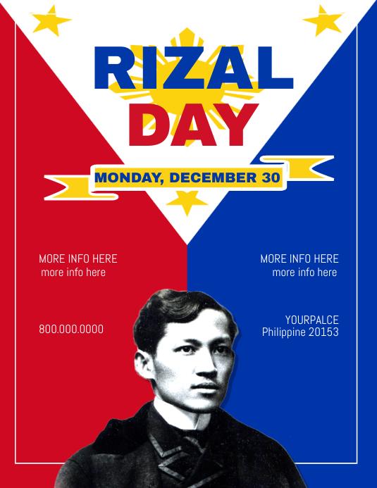 Rizal Day Flyer Template Volante (Carta US)