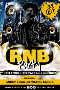 RNB Party Poster template