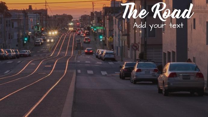 Road album cover Foto de Portada de Canal de YouTube template